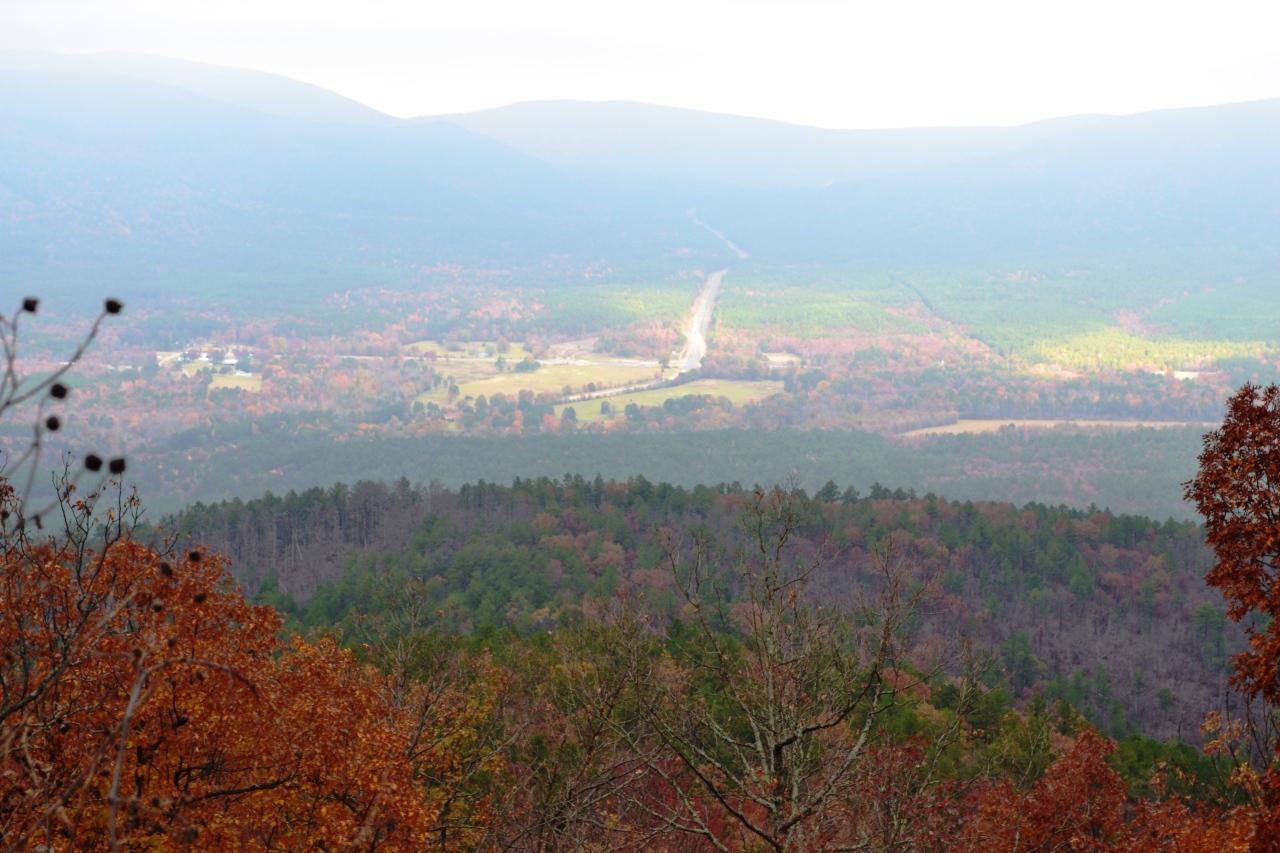 Talimena Scenic drive Fall views