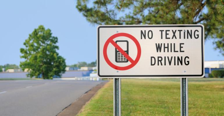 texting while driving logo